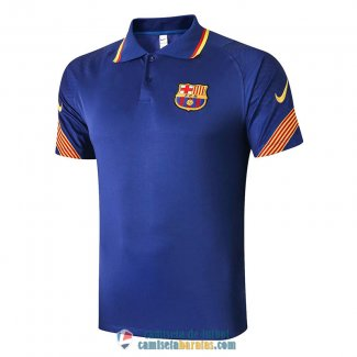 Camiseta Barcelona Polo Blue 2020/2021