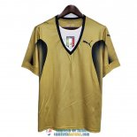 Camiseta Italia Retro 2006 Golden