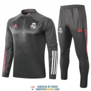 Real Madrid Sudadera De Entrenamiento Grey + Pantalon 2020/2021