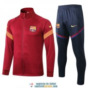 Barcelona Chaqueta Red + Pantalon 2020/2021