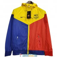 Barcelona Chaqueta Rompevientos Blue Red Yellow 2020/2021