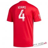 Camiseta New York Red Bulls Segunda Equipacion 4#ADAMS 2018