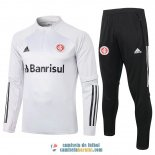 Sport Club Internacional Sudadera De Entrenamiento Light Grey + Pantalon 2020/2021