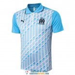 Camiseta Olympique Marseille Polo Blue White 2020/2021