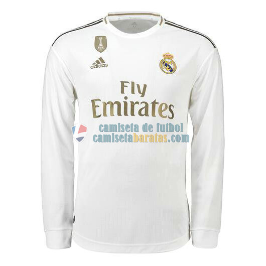 Camiseta Manga Larga Real Madrid Primera Equipacion 2019-2020