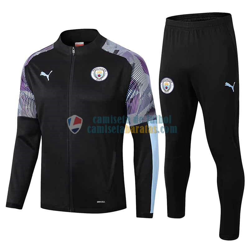 Manchester City Chaqueta Black + Pantalon 2019-2020