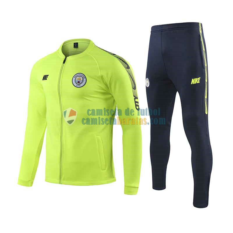 Manchester City Chaqueta Green + Pantalon 2019-2020