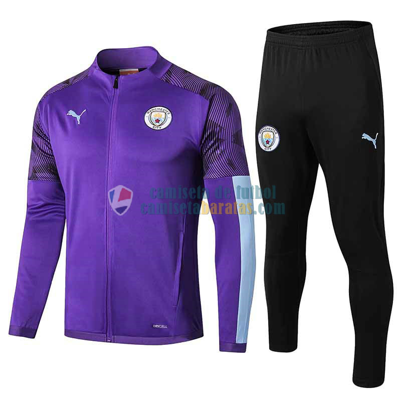 Manchester City Chaqueta Purple + Pantalon 2019-2020